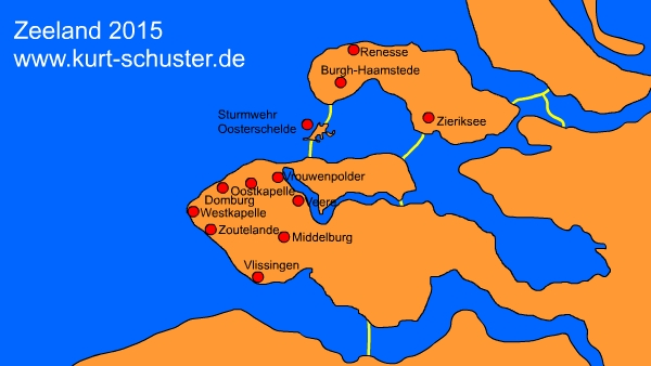 Strand Karte Zeeland.Www Kurt Schuster De Zeeland 2015